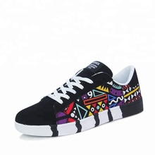 wholesale man leisure shoes fashion floral men casual shoes