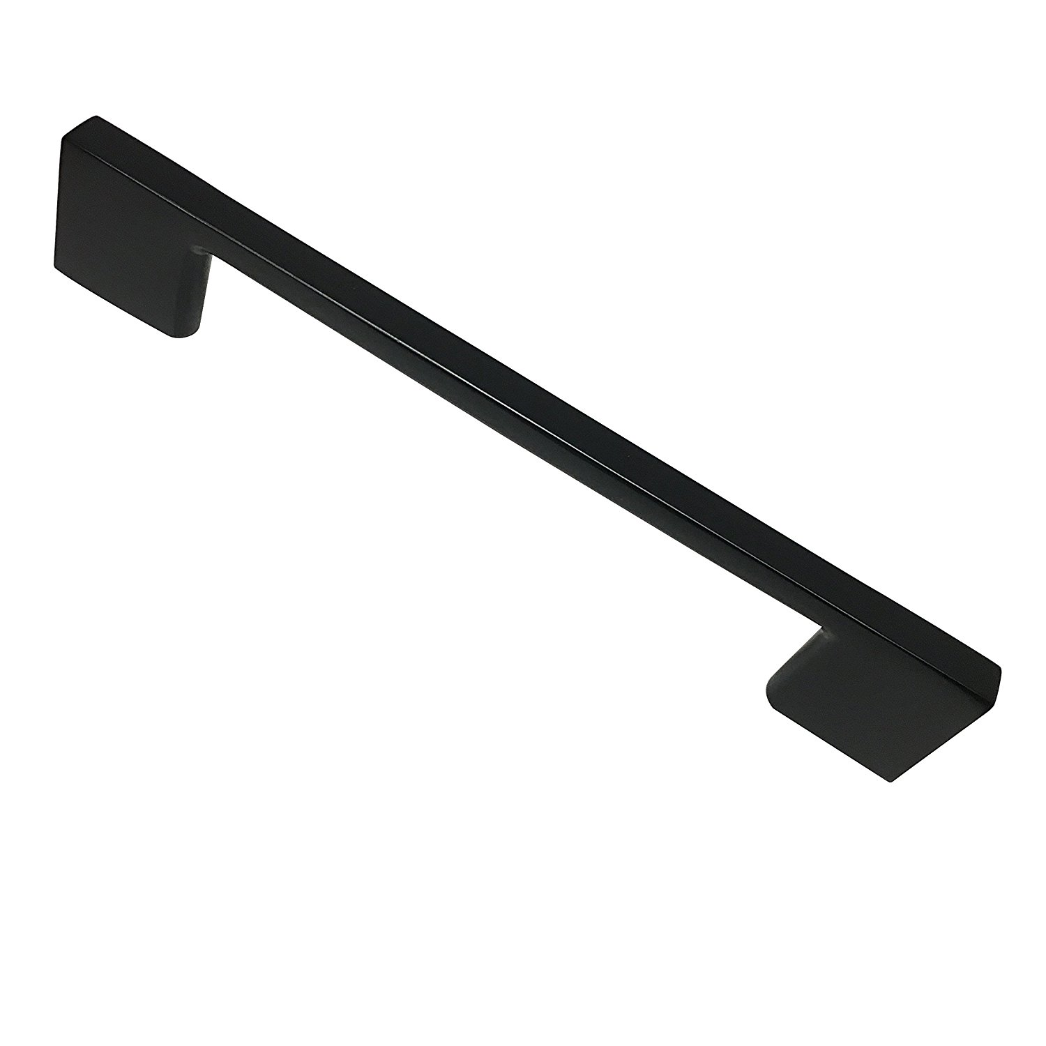 Southern Hills Satin Black Cabinet Handles - 8.75 Inch Screw Spacing - Pack of 5 - Modern Kitchen Hardware Drawer Pulls SH3229-224-BLK-5
