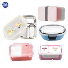 Hot selling microwave safe food container biodegradable school plastic bento kids lunch box for kids