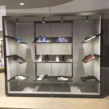 Fashion Brand Shop Shoes Display Racks Design Metal Slatwall Shoe