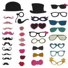YR Party Photo Booth Props Novelty Dress Up Accessories Decorations for Birthday Parties