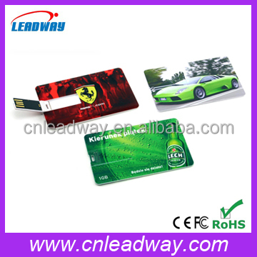 business card USB Flash Memory Stick with full color printing, pen drive grade A chips and optional capacity 64MB-64GBbusiness c