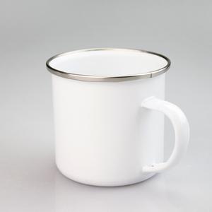 11oz white blank sublimation mug enamel logo custom gift mug metal white mug for sublimation