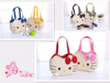 Lovely wholesale children girls straw hello kitti bags