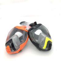 Shenzhen Liquid Silicone+pc Customized Color Go Pro Mount Folding Swim Set Snorkel Full Face 2017 Panoramic Aquatics Diving Mask