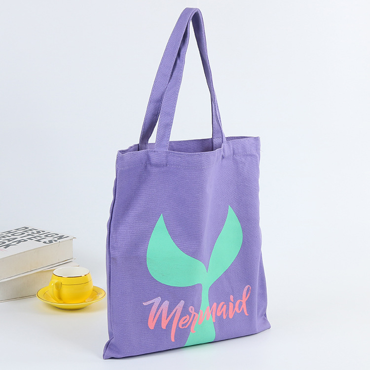 Personality customization logo cotton bags environmental students cotton canvas bag fashion shopping canvas bag