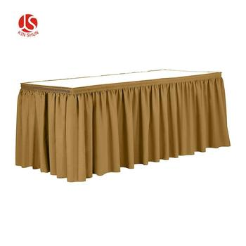 Party solid  table skirt waterproof custom table skirting