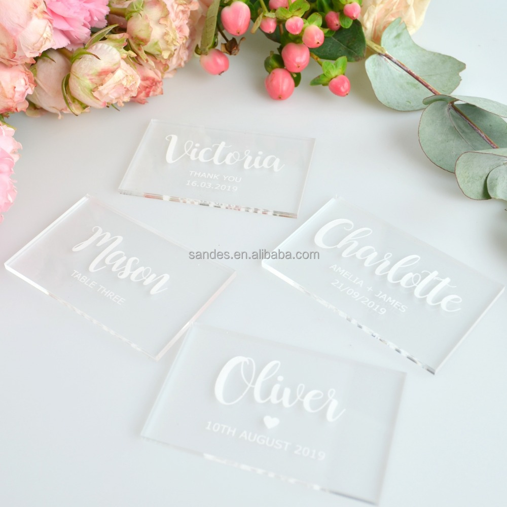 Clear Acrylic Place Card for <strong>Wedding</strong>