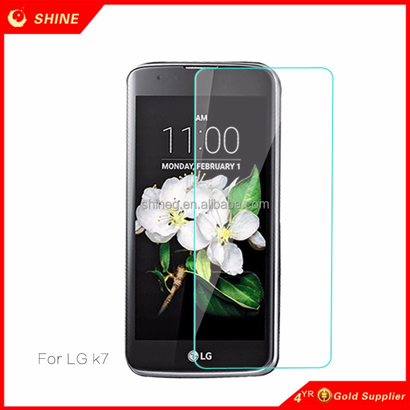 Mobile Phone Use 9h 0.3mm transparent tempered glass Screen Protector for LG K7
