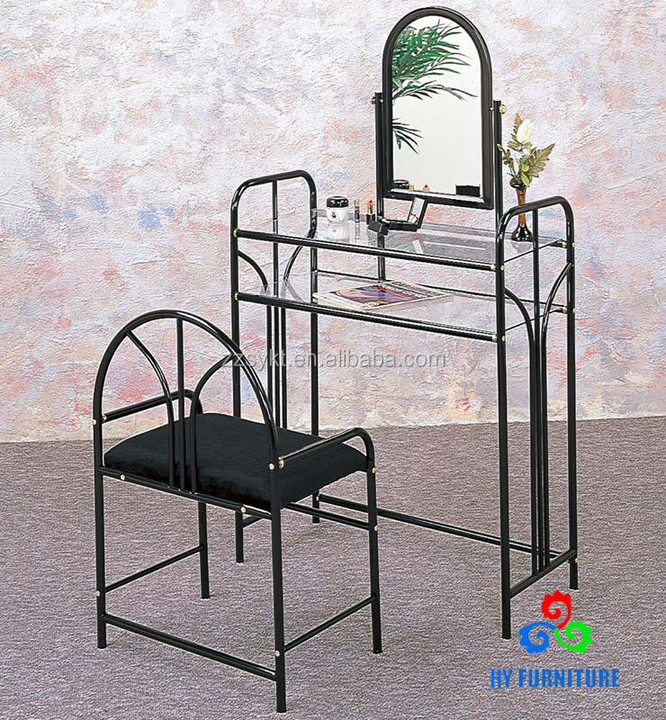 Simple Design Elegant Cosmetic Mirror With Glass Dressing Table And Chair  Wholesale   Buy Cosmetic Mirror,Make Up Mirror,Dressing Table With Lighted  Mirror ...