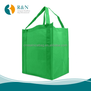 green polypropylene non-woven fabric gift tote bag for grocery store