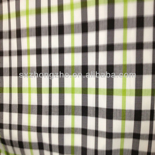t/c poplin spandex checked yarn dyed fabric