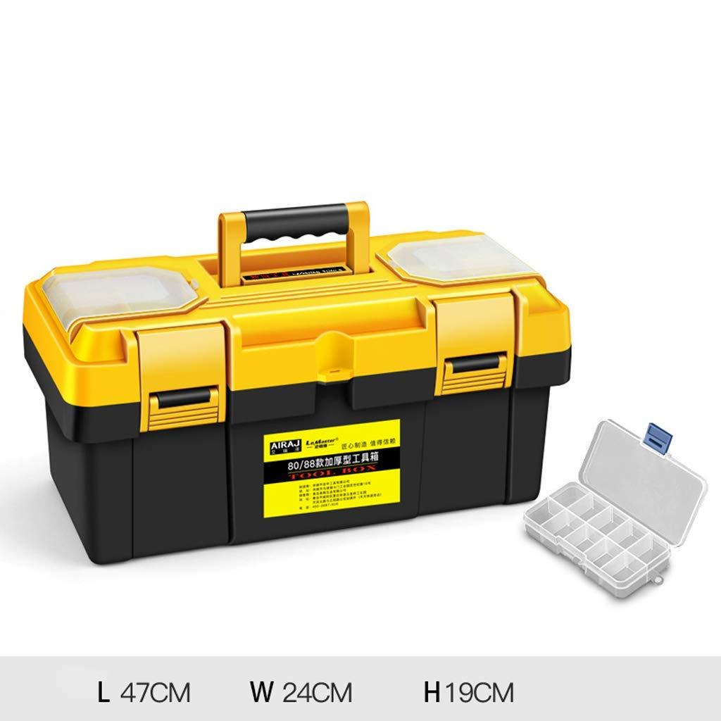 "Tool Boxes | Portable Tool Box Storage 12.5"" 14"" 17"" 20"" 23"" Small/Medium/Large, 1PCS (Size : L47W24H19cm)"