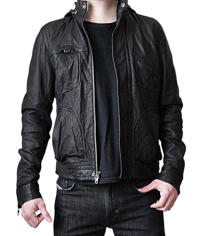 Mens Leather Jacket for Motorcycle Racer - Mission Impossible 5 Biker Jacket Men