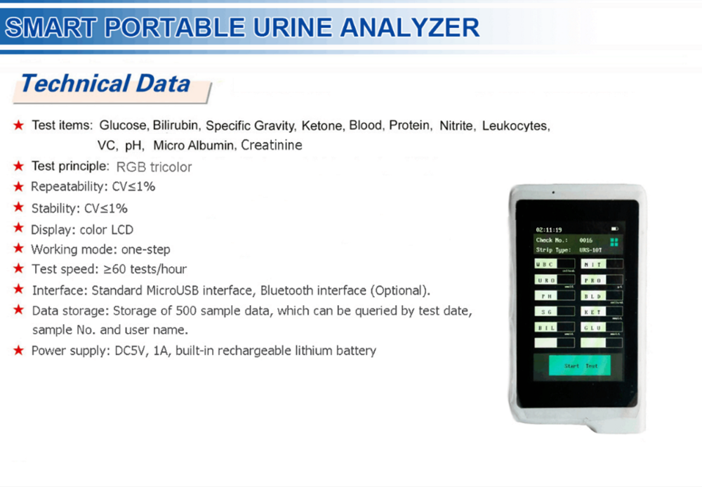 urine analyzer machine Medical equipment Urine testing equipment Smart Portable WiFi CE FDA ISO approved