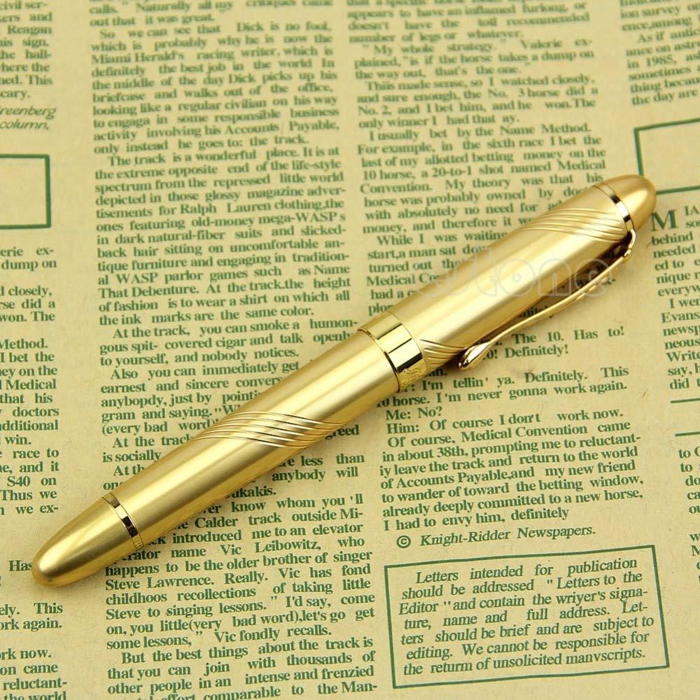AZSNOW New Jinhao X450 Golden Twist Carven B Nib Metal Fountain Pen D14