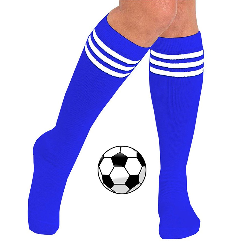 8f47c3d6529 Buy Womens Knee High Striped Long Soccer Socks (3-Pairs