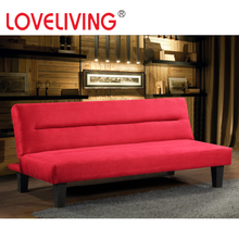 Farbric sofa Bed,Red