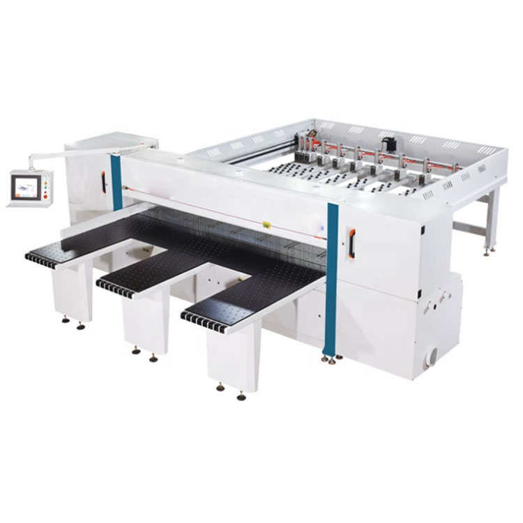 MJ280 industriële automatische computer controlled table saw CNC beam zag machine