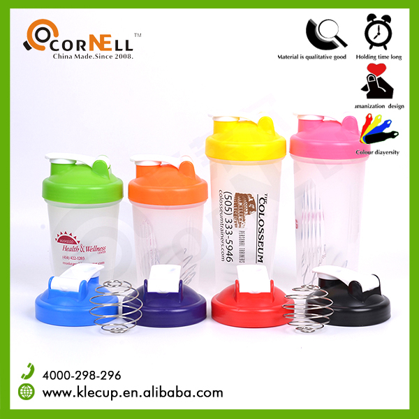 2017 Customized BPA free Sport Plastic Water Bottle with shaker
