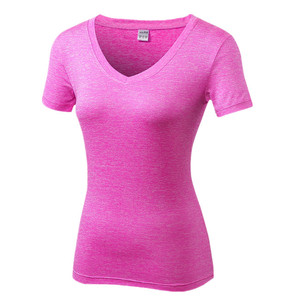 high quality colorful gym yoga t shirt for women sports clothing