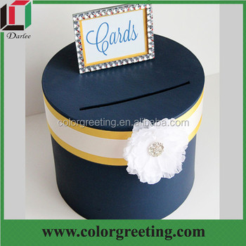 Luxury Decorative Custom Design Big Wedding Envelope Box With Ribbon ...