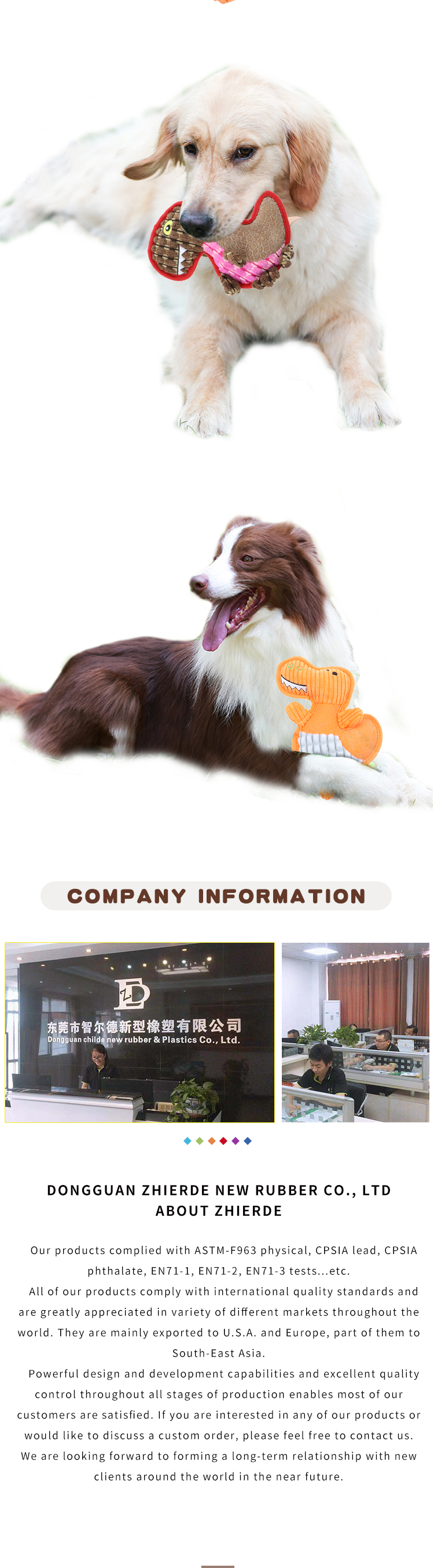 Funny pet toys squeak plush toys China pet toy factory OEM custom