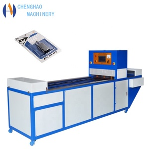 Continuous type children toys blister packing machine automatic put and take up the products