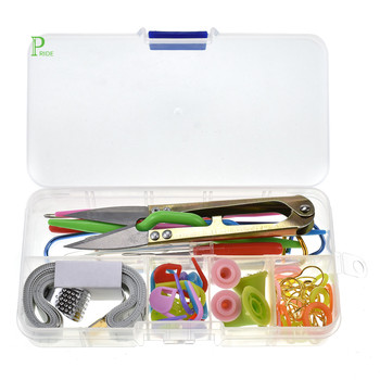 Portable Travel size mini hotel complete professional sewing kit packed in a transparent case