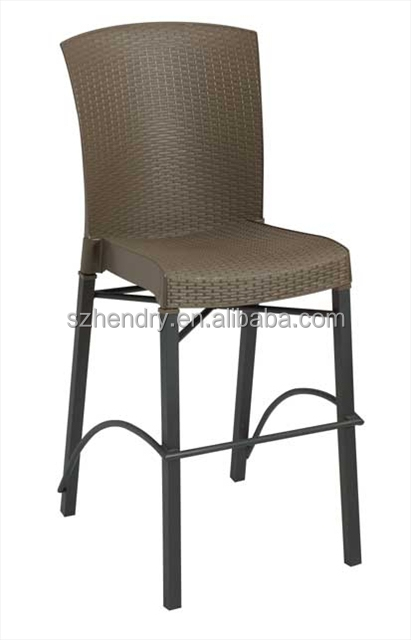 Modern Bar Furniture, Metal Stacking barstool with resin seat and backrest 2014091104
