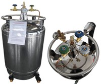Self-pressurization transportable lab biological liquid nitrogen dewar/liquid nitrogen cryogenic tank