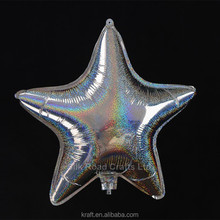Five Point Star Self Inflating Foil Balloon For Party Decoration