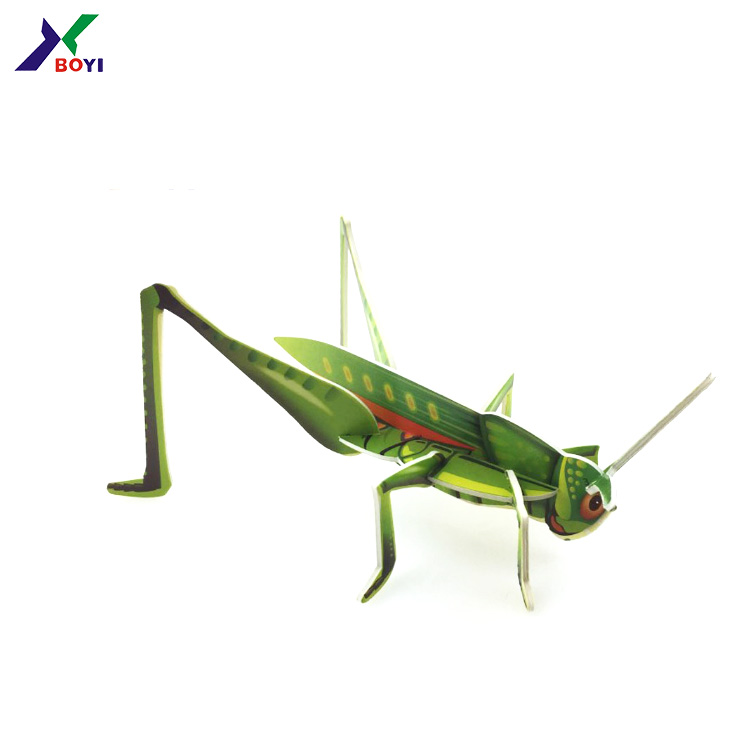 Expanded Polystyrene Foam Puzzle Locust 3d Colorful Painting Cardboard Toys  Jigsaw For Kids/adults Toys 3d Stereo Puzzle Games - Buy Expanded