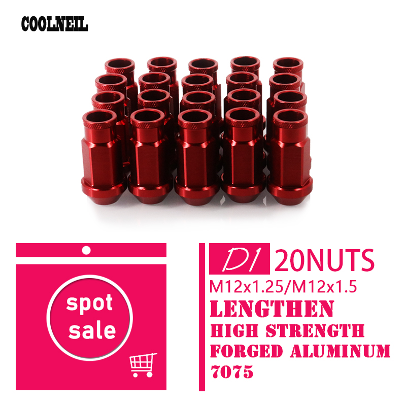 12x1.5MM  D1 Spec Red Tire Wheel Lock Nuts