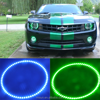 New 2015 rbgw angel lights Universal 24 LED 160 MM camaro halo rings