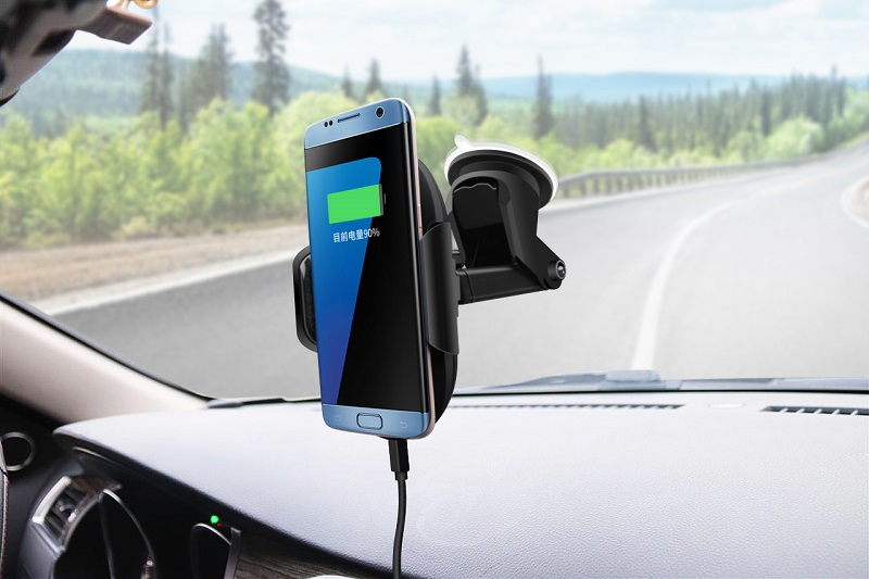 New Design Amazon Best Seller Wireless Car Charger,Auto Sensing Car Mount,Suction Qi Wireless Charger For Car