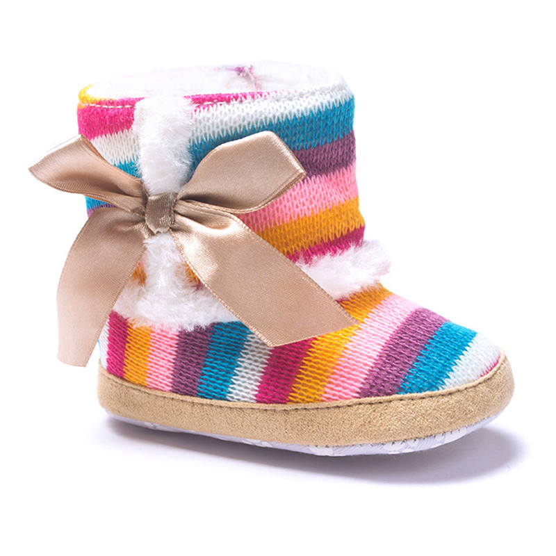 Get Quotations · Woolen Yarn Size 12 14 Rainbow Color Breathable Fashion  Baby Girl Shoes D35 0a94c8013eec