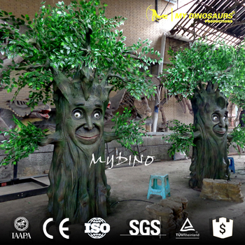 MY DINO-APS026 Talking And Speak Animatronic Tree for Theme Park