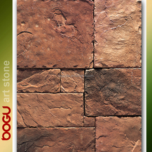 Flat finish wall stone veneer rustic brown tiles rock stacked exterior panel natural design cladding stone tiles artificial