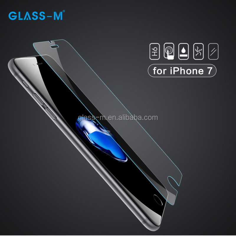 Hot Selling 9H Glass Mobile Phone Protector for iPhone 7 Stickers