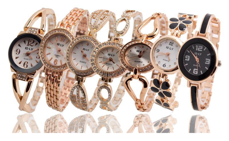 Горячая распродажа высокое качество розовое золото браслет женщины леди кварцевые наручные часы Relogios Feminino