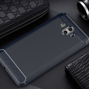 360 Full Protective Slim Shock-Proof Wire Drawing case for huawei mate 10 Craft Carbon case TPU cove