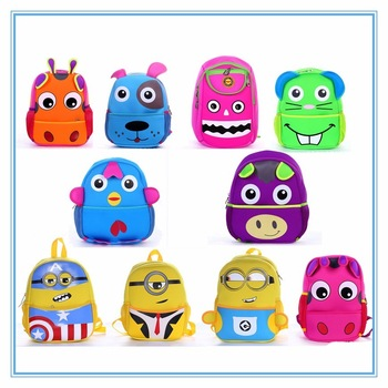 Lovely Kid Face Emoji Face Bags Yellow Girls Boys Children's Backpack Schoolbag Crossbody Bags