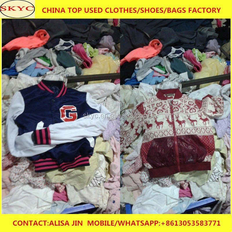 Wholesale korea used clothing bales and Japan used items winter clothes for children