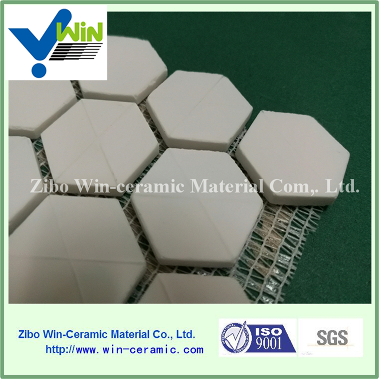 High wear resistance alumina ceramic pipe lining tile
