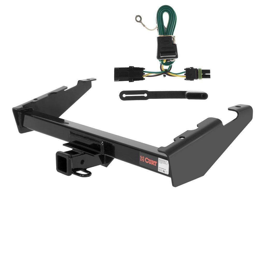 CURT Class 3 Trailer Hitch Bundle with Wiring for Chevrolet Suburban, GMC Suburban - 13017 & 55312