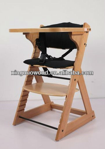 XN-LINK-C21 Wooden baby high chair