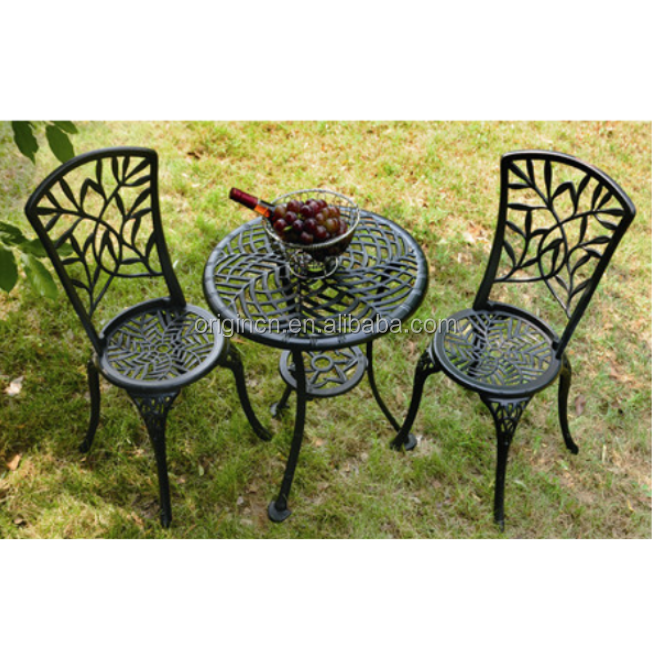 Vintage Feuilles De Bambou Design Bistro Extérieur En Métal Ronde Table Et  Chaise Meubles De Jardin En Fonte D\'aluminium - Buy Meubles De Jardin En ...