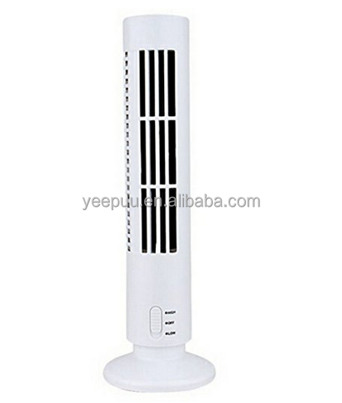 Portable Mini USB Tower Fan Cooling Bladeless Air Conditioner Home Office Cool Fan