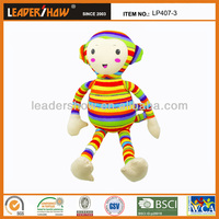 Yiwu China soft toys with custmoized fabric plush or nylon or polyester stuffed micro beads / The best gift to Baby or children
